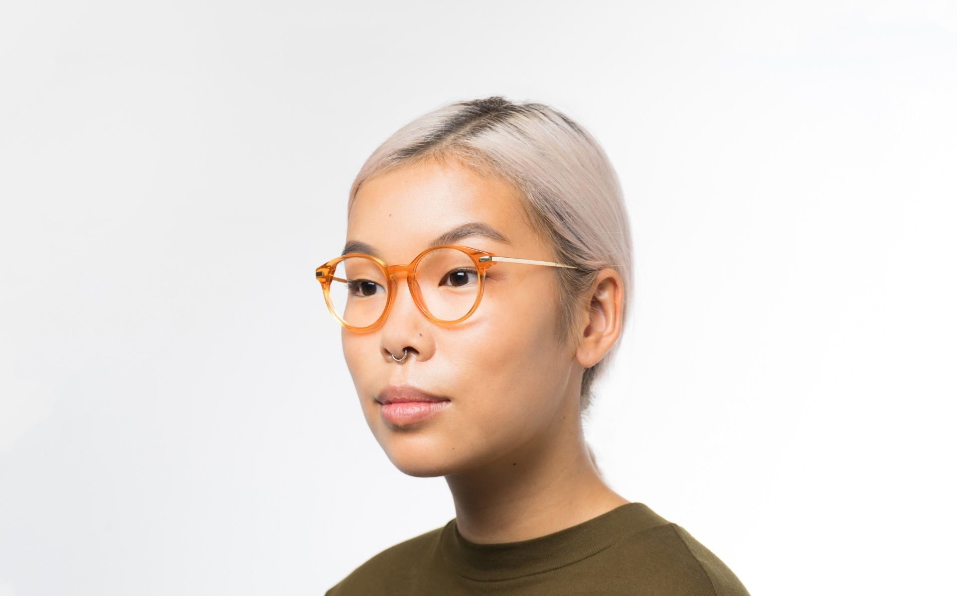 abroad orange polette glasses model view 01 crop