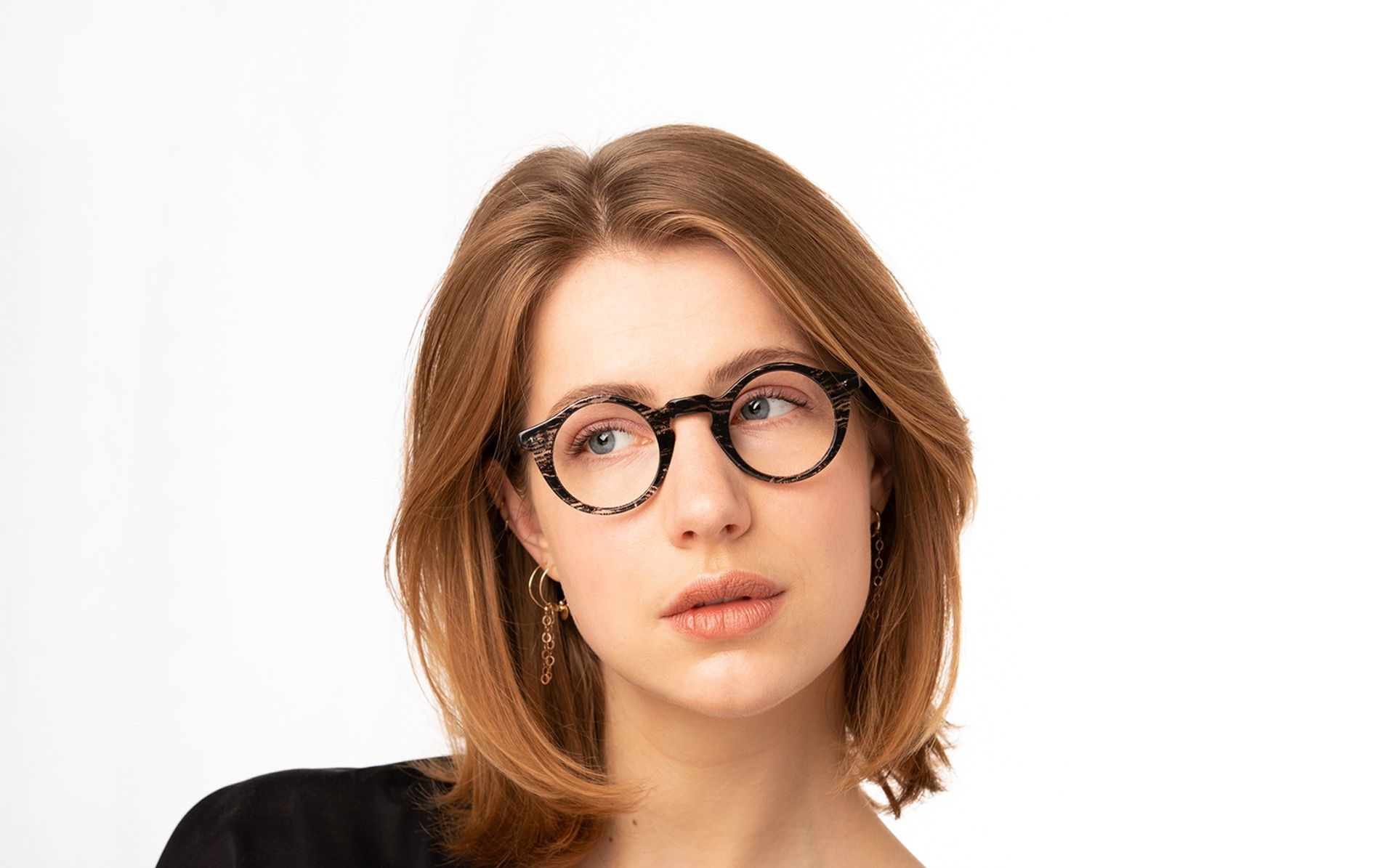 ando black polette glasses model view 02 2