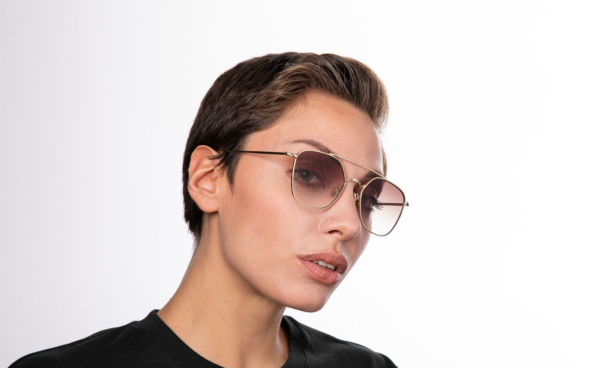 atomic brown polette glasses model view 01