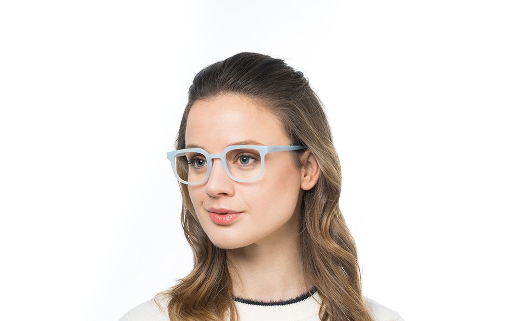azzurra blue polette glasses model view 01