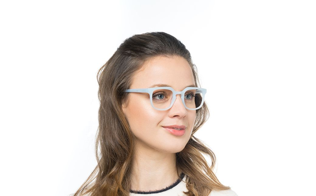 azzurra blue polette glasses model view 02
