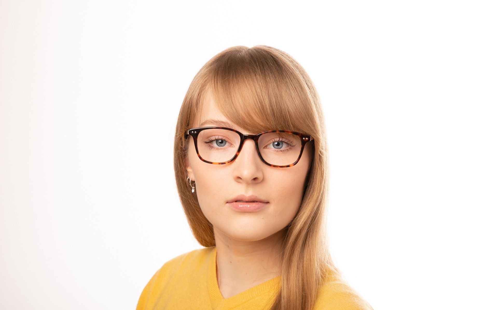 brooklyn ecaille polette glasses model view 01