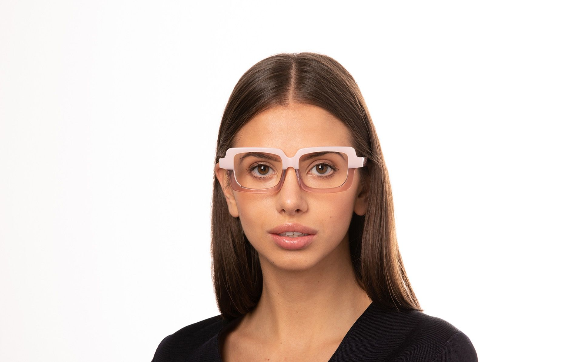 caramela pink polette glasses model view 01