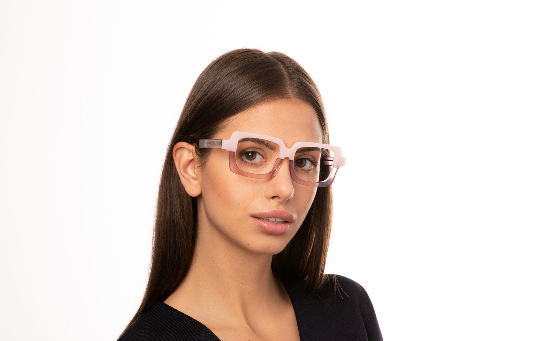 caramela pink polette glasses model view 02