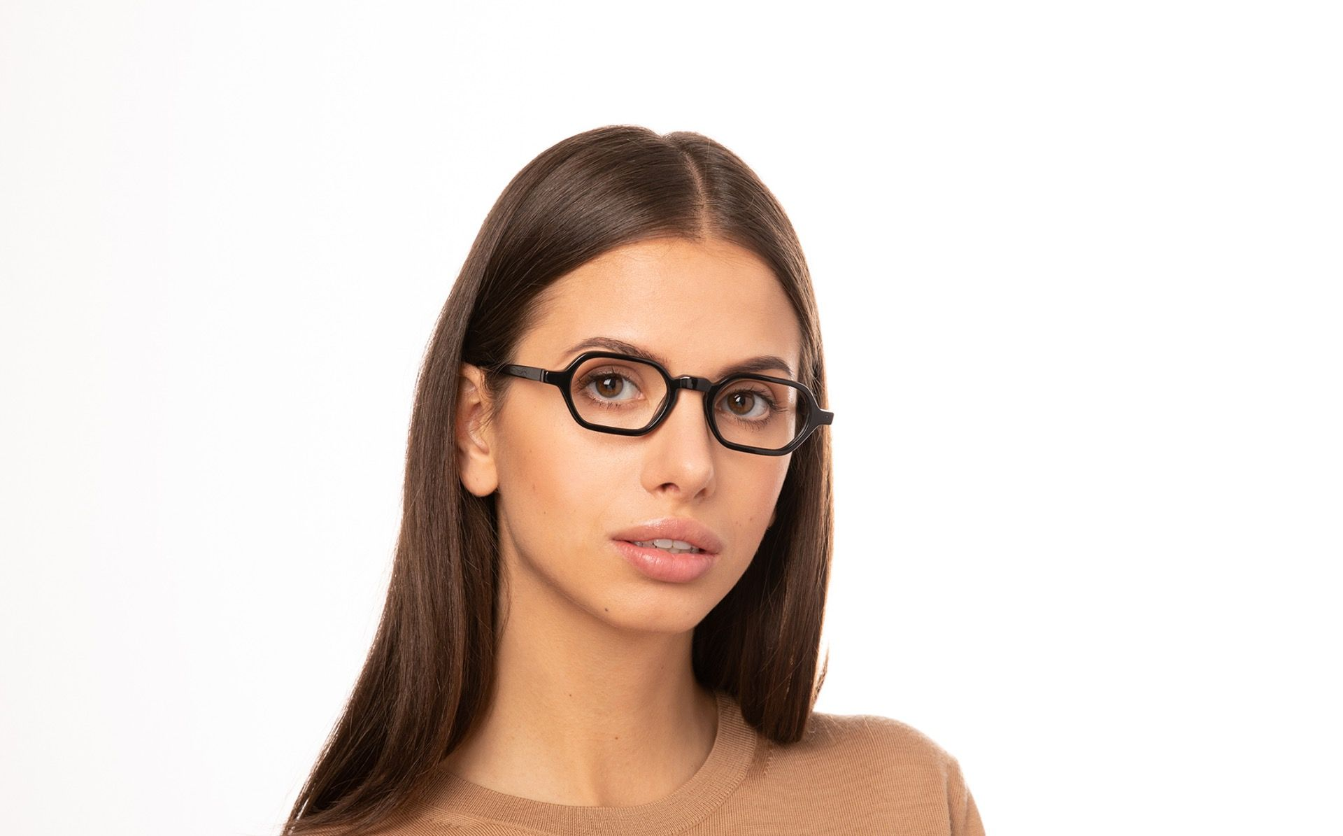 christian black polette glasses model view 02