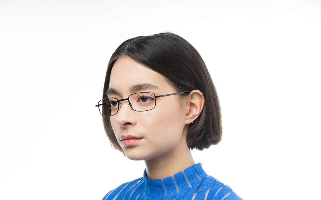 cyborg black polette glasses model view 02