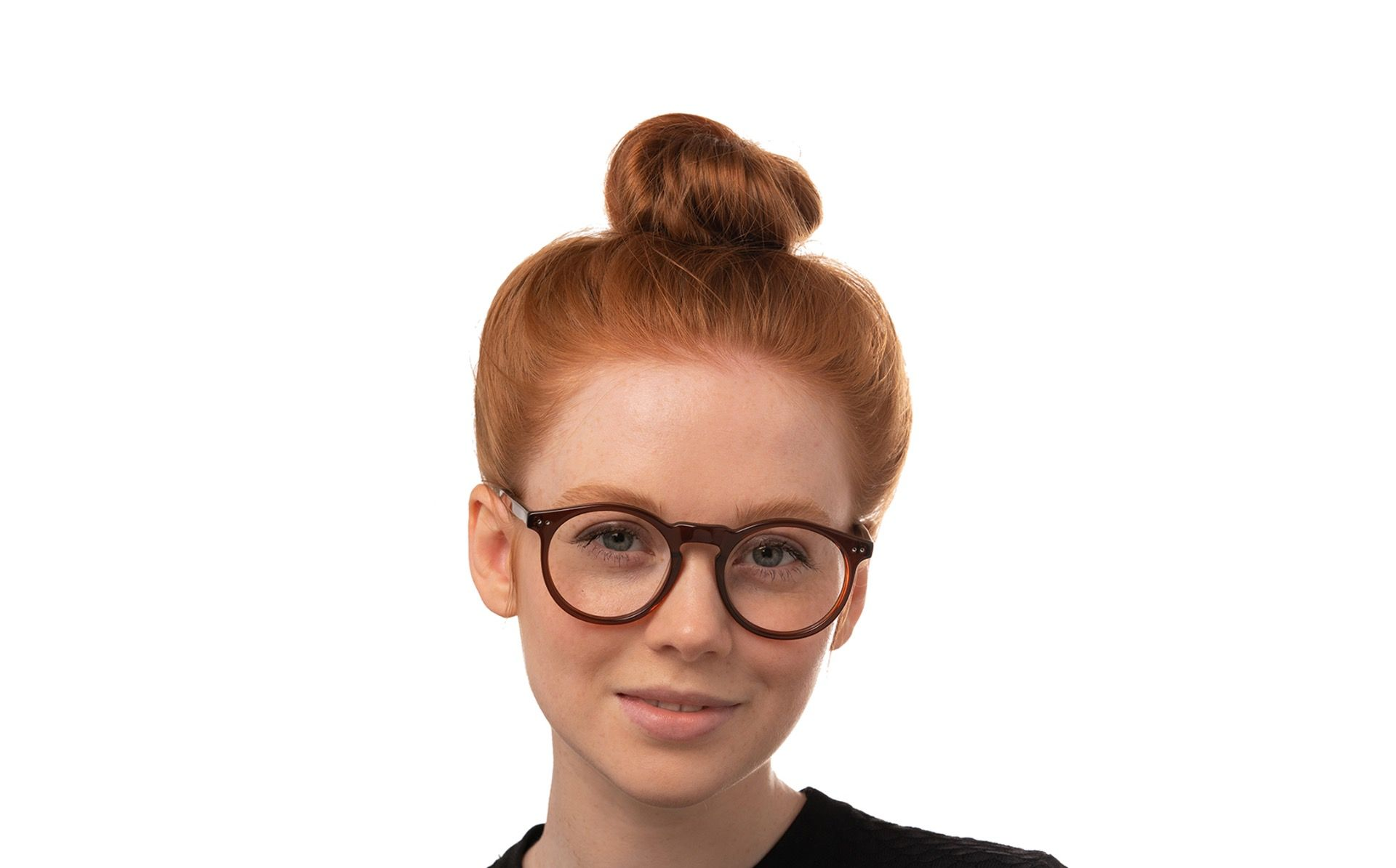delice brown polette glasses model view 1