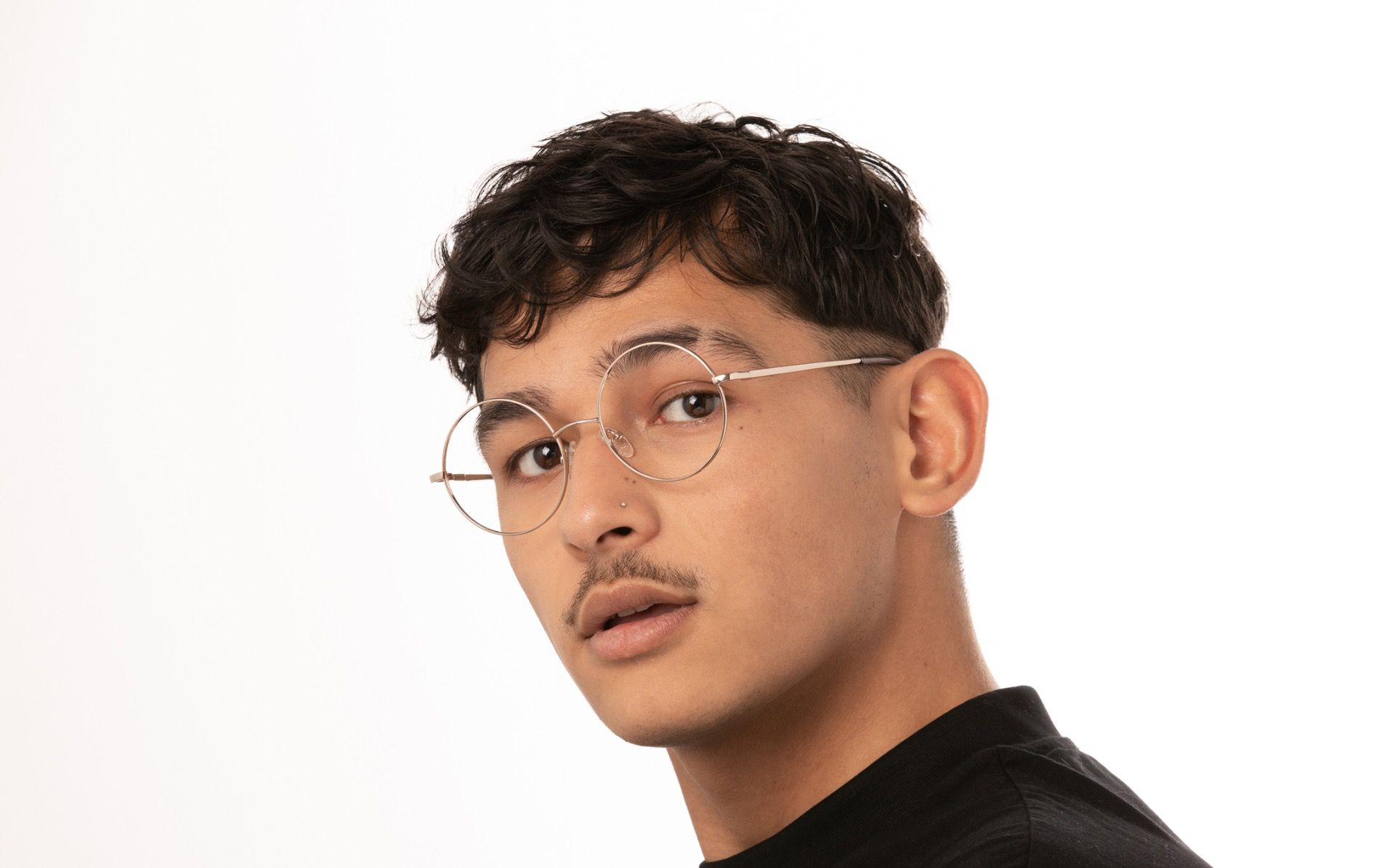 dustin grey polette glasses model view 04