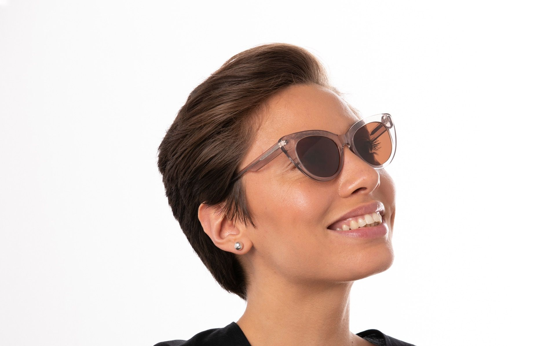 graziella brown polette glasses model view 02