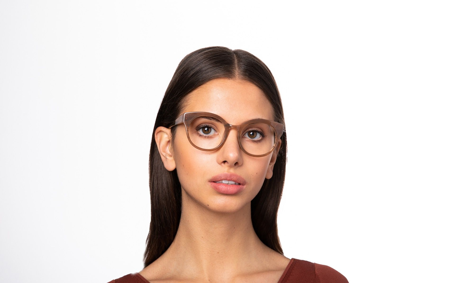 kittiwake brown polette glasses model view 01