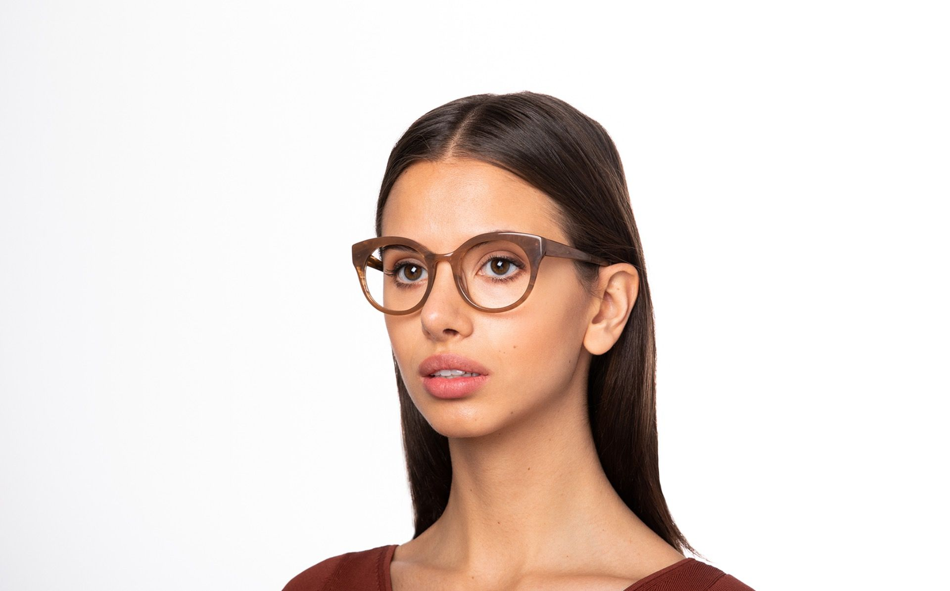 kittiwake brown polette glasses model view 02