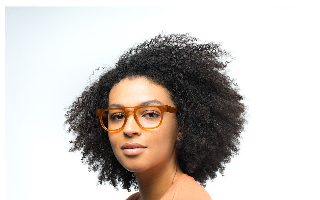 marshall view brown polette glasses model view 02