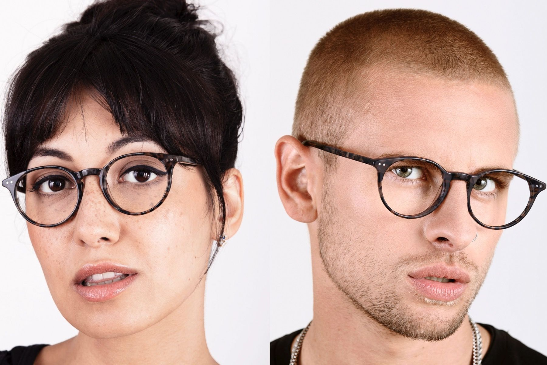 milano grey polette glasses model view 1