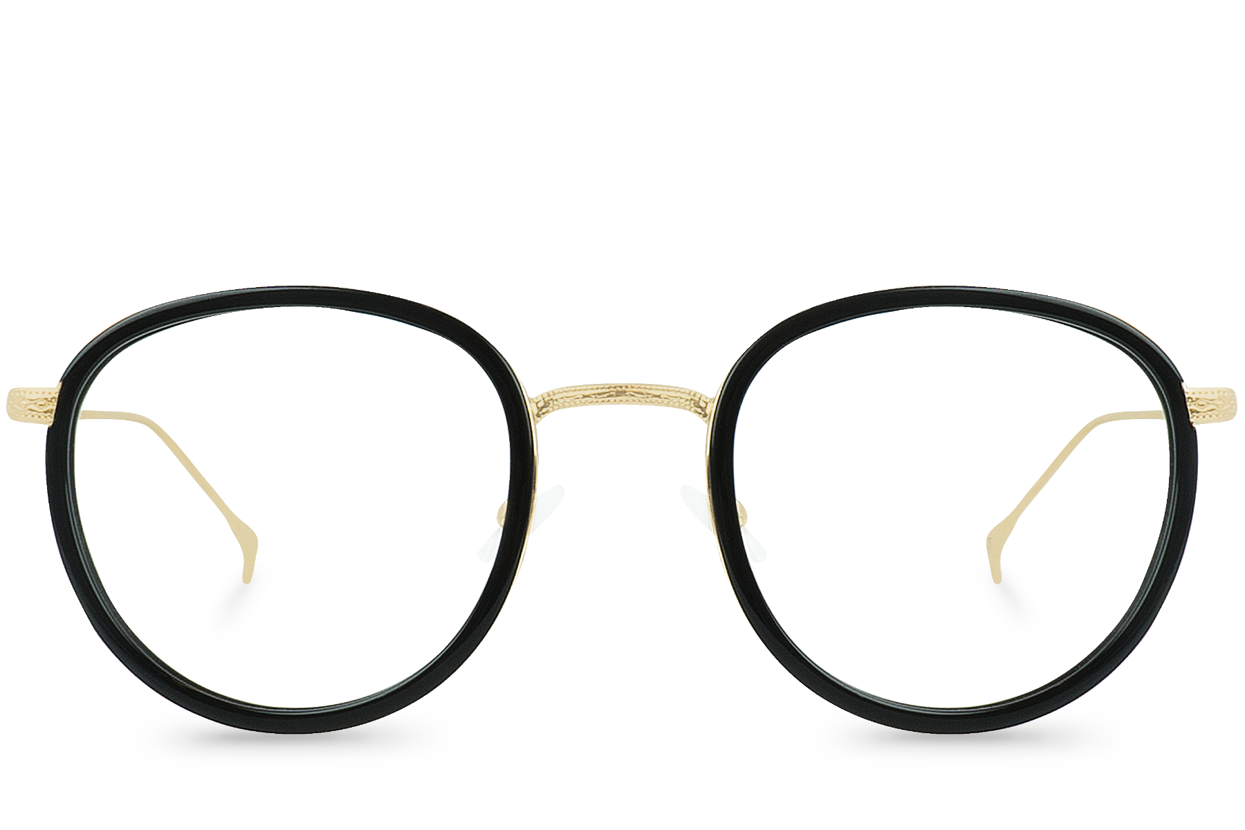 nash black polette glasses front view