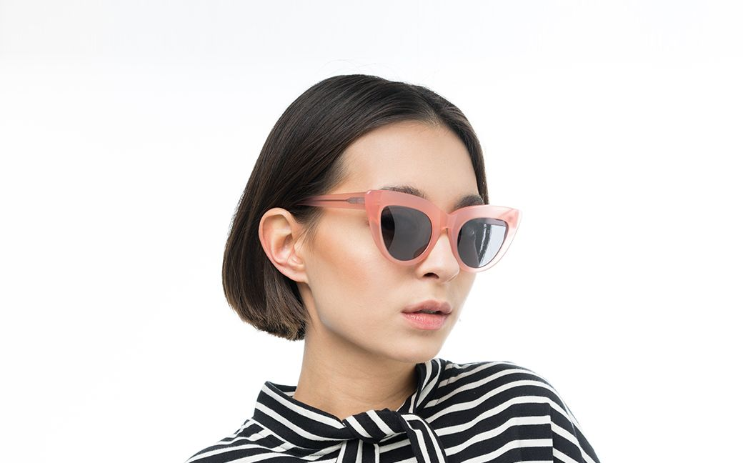 notting hill pink polette glasses model view 02