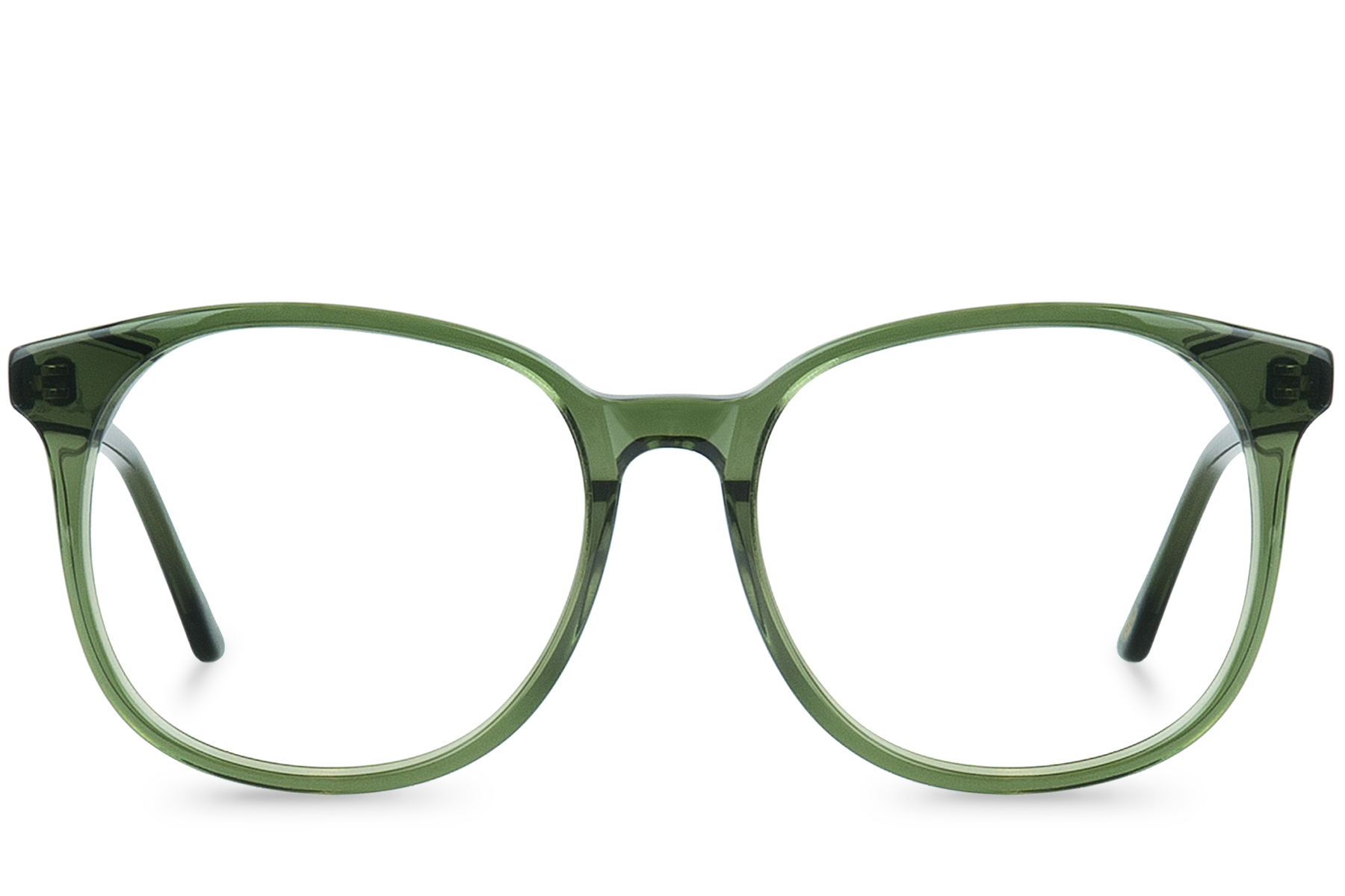 olivia green polette glasses front view