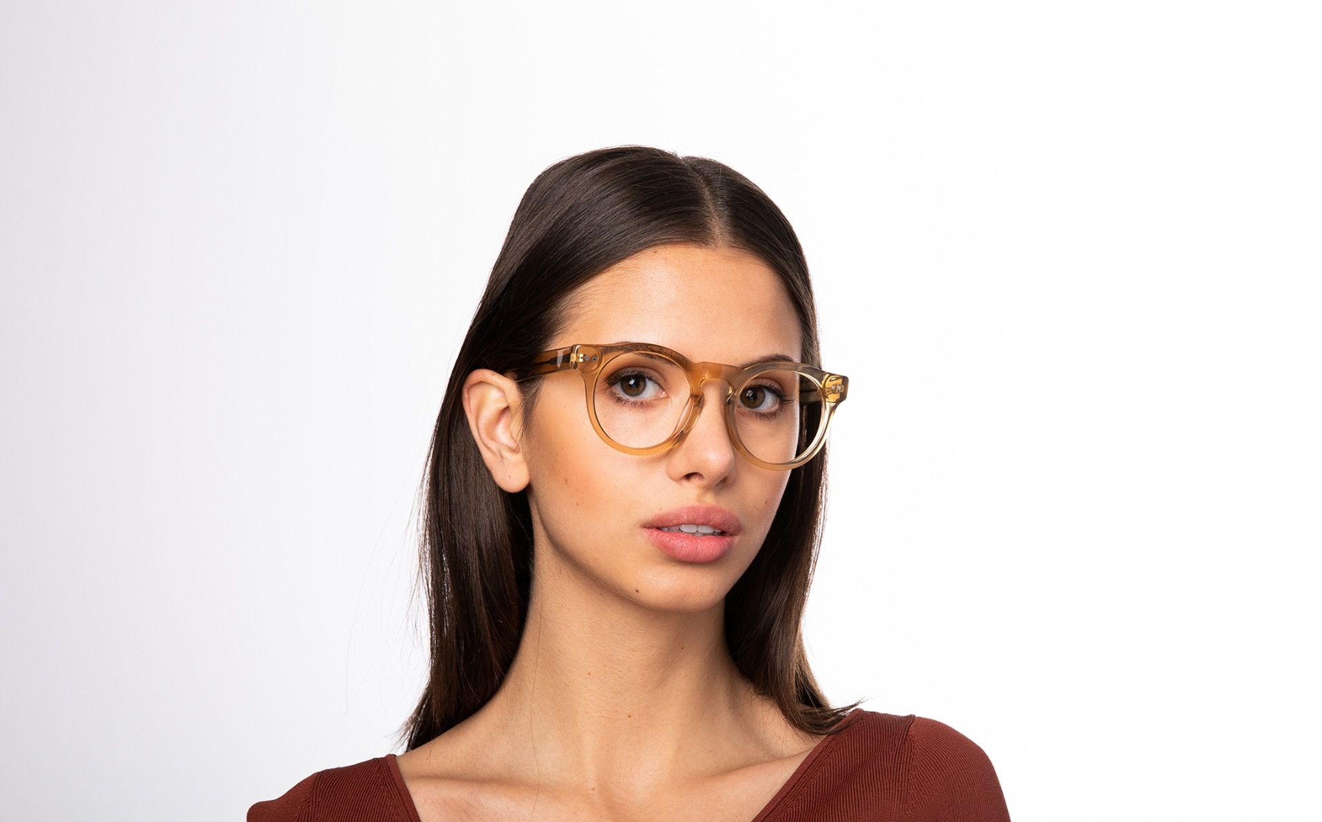 pantos yellow polette glasses model view 01