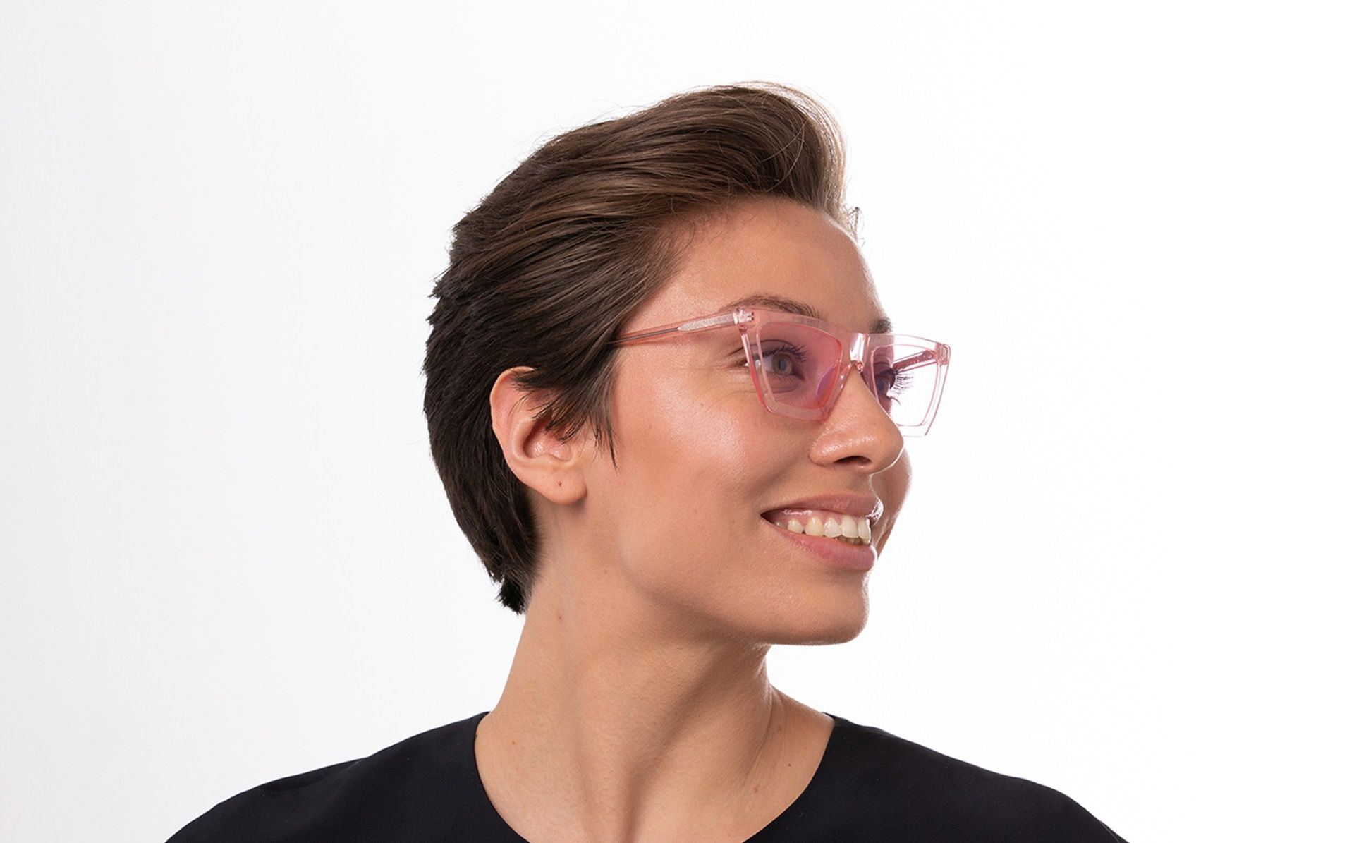 regina pink polette glasses model view 01
