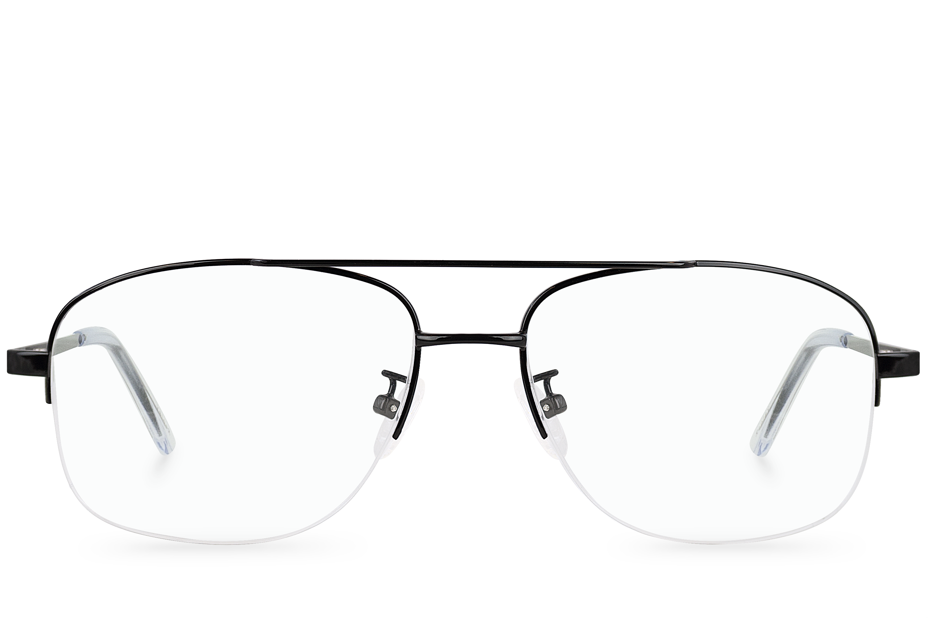 replay black polette glasses front view