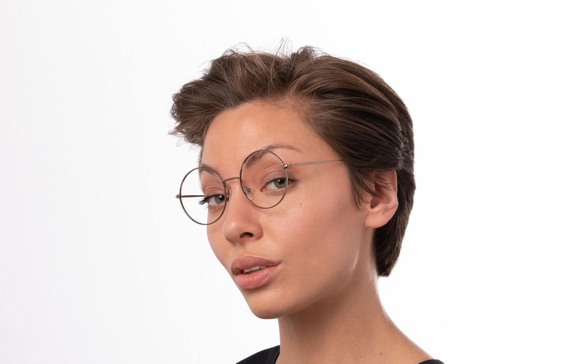 rewind brown polette glasses model view 01
