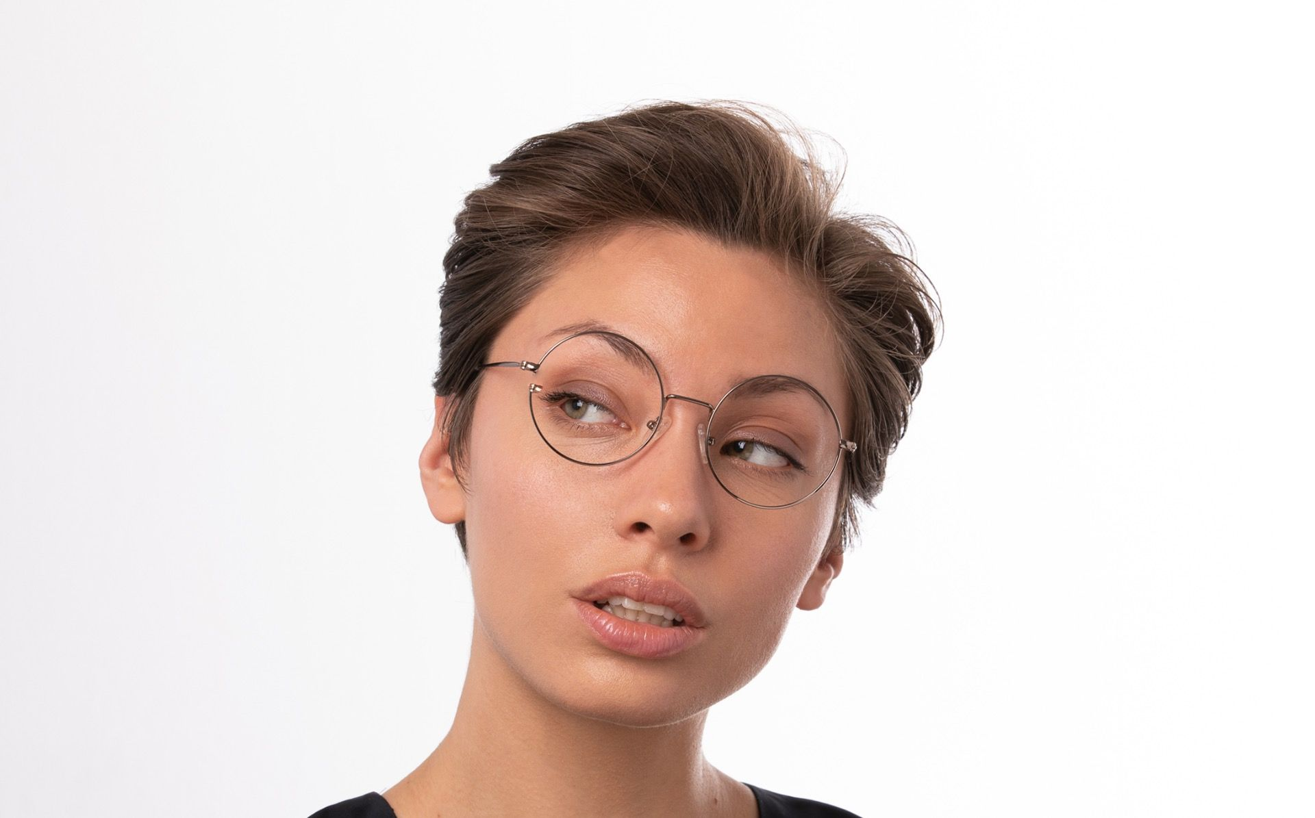 rewind brown polette glasses model view 02