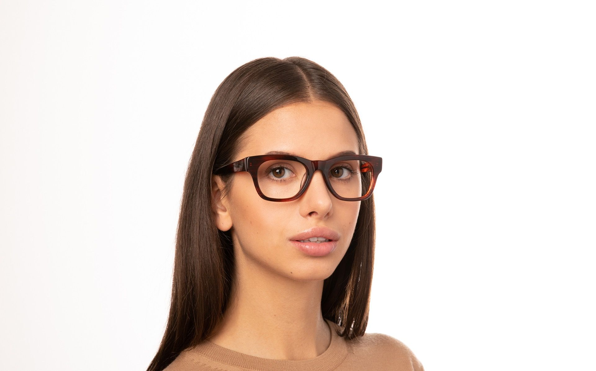vanity brown polette glasses model view 02