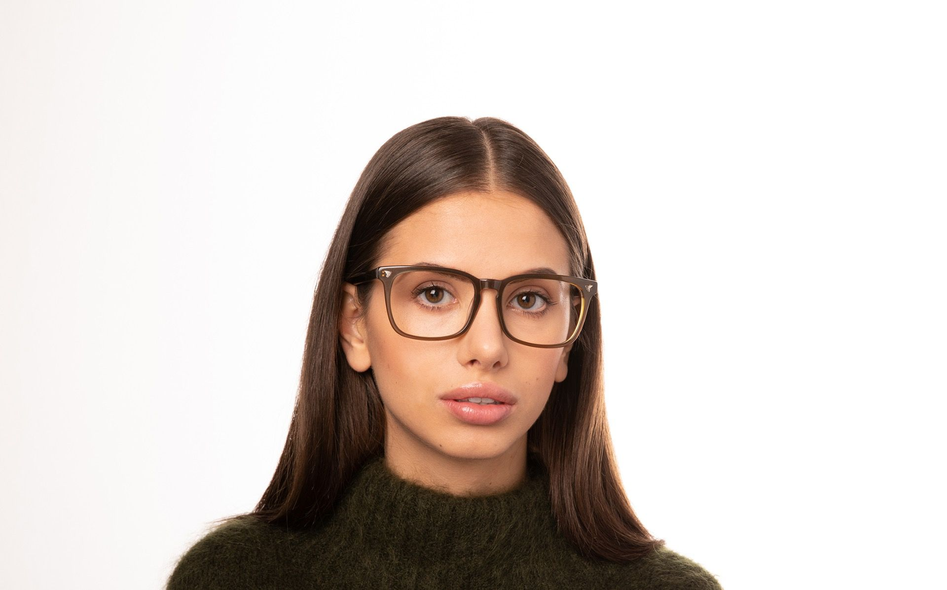 wiley brown polette glasses model view 02