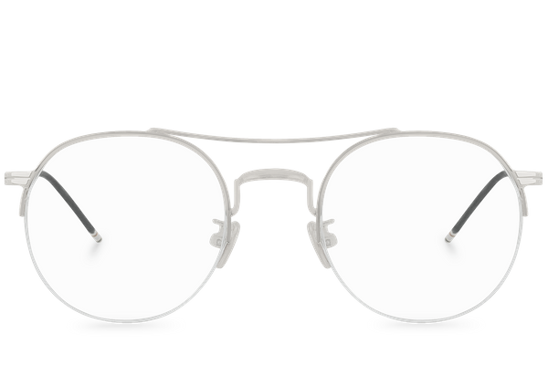 bradley silver polette glasses front view