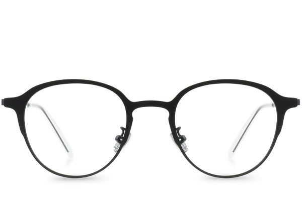 reese black polette glasses front view