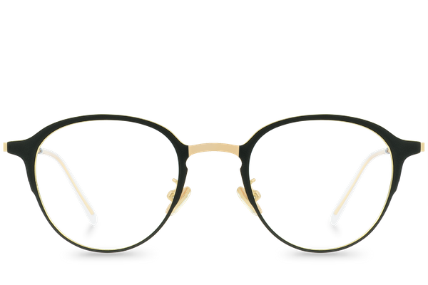 reese gold polette glasses front view