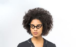 a fashion nerd black polette glasses model view 01