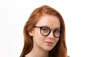 arden black polette glasses model view 01