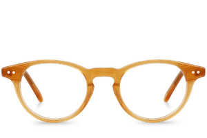 button brown polette glasses front view