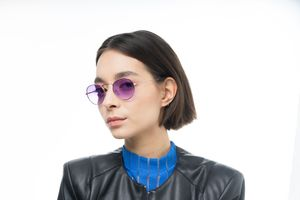 california purple polette glasses model view 02