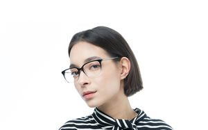 connor black polette glasses model view 02