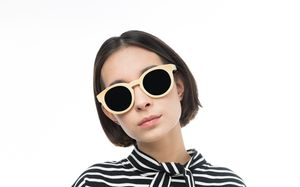 ebony beige polette glasses model view 02