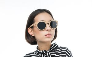ebony polette glasses model view 02