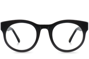 gladys black polette glasses front view