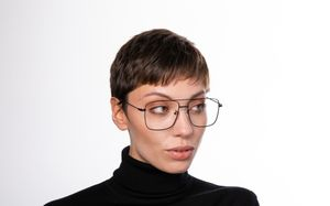 gordi black polette glasses model view 0