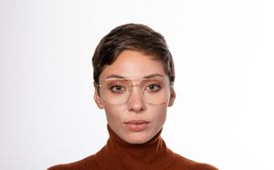 gordi gold polette glasses model view 01