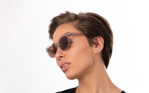 graziella brown polette glasses model view 01