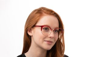 griffith red polette glasses model view 02