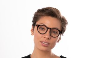holly brown polette glasses model view 01