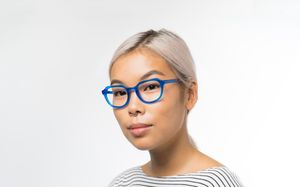 justice blue polette glasses model view 02 crop