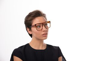 kaito brown polette glasses model view 02