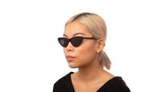 kim black polette glasses model view 02