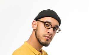 lautrec brown polette glasses model view 04