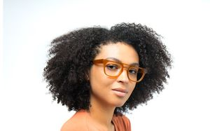 marshall view brown polette glasses model view 01