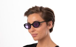nancy black polette glasses model view 01