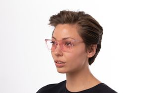 regina pink polette glasses model view 02